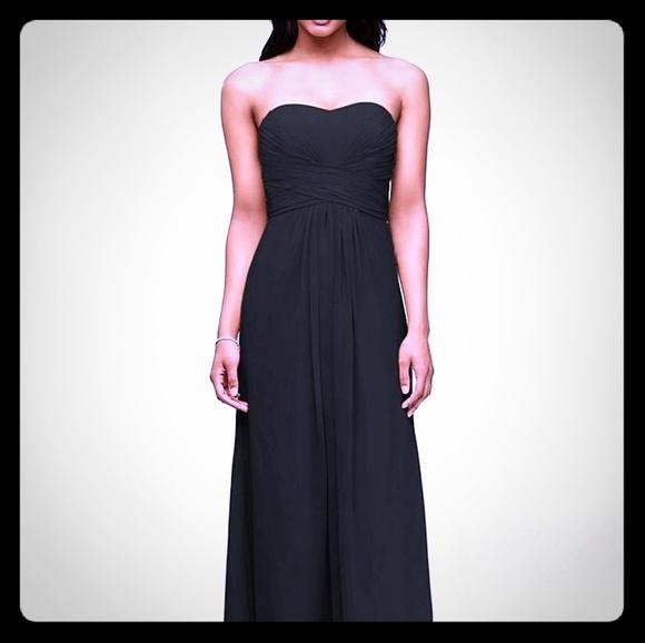 b796d3135fe0 David's Bridal Dresses & Skirts - Black Strapless Chiffon Bridesmaid Dress